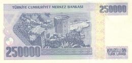 Turkey P.211  250000 Lirasi 1998 Unc - Turquie