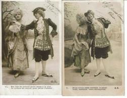 CPA Lot De 2 Cartes Postales-France -Fantaisie-couple D'antan 1906-VM23163 - Paare
