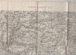 Saint Jean D'Angely S.O. (17 CharenteMaritime) Carte Détat-major N°153.. 1/80.000e..1893 (PPP25305) - Cartes Topographiques