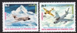 Pakistan 2003 Centenary Of Powered Flight, Air Force Set Of 2, MNH, SG 1222/3 (E) - Pakistan