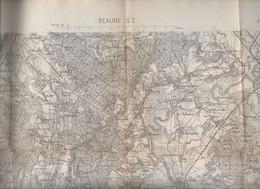 Beaune S.E (21 Côte D'Or) Carte D'état Major  N°125 Révisée 1889.. (M0982) - Cartes Topographiques
