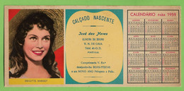 Gaia - Mata-Borrão Calçado Nascente Calendário Brigitte Bardot Blotter Buvard Calendar Actress Cinema France Portugal - Cinema & Teatro