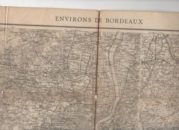 Environs De Bordeaux (33 Gironde) Grande  Carte Genre état-major 1/80.000e Révisée 1899 (M0983) - Cartes Topographiques