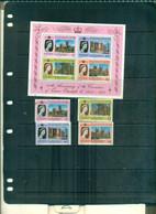 S.VINCENT GRENADINES 25 INCORONATION ELISABETH 4 VAL + BF NEUFS A PARTIR DE 0.75 EUROS - St.Vincent & Grenadines