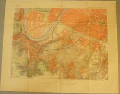 Carte Du S.G.A. : PARIS S.O. - BOULOGNE - SEVRES... 1/20 000ème - 1887. - Cartes Topographiques