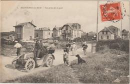 CPA  14  BERNIERES SUR MER  VUE PRISE DE LA GARE   AUTOMOBILE - Otros Municipios