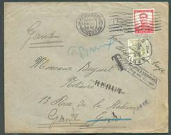 N°123 Obl. MécaniqueBRUXELLES 1du 30-XII-1912 Vers Gand Et Taxée à 20 Centimes Par T-TX N°6 ScGENT 1+ Griffes 'T' Et - Postage Due