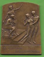 """Grande Médaille   En Bronze  """"EN SOUVENIR D'AUJIURD""""HUI"""" Et """"DANS L'ESPOIR DE DEMAIN"""" Par Eugène De Breemaecker - Altri"""