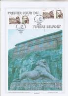 Yvert 4697 Encart Premier Jour Du Timbre Belfort édité Par Cercle Philatélique Peugeot Sochaux Cachets Paris Et Belfort - Francia