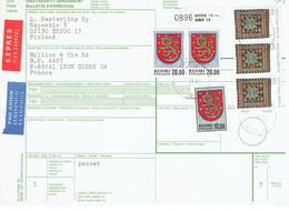 Finlande 3 Bulletins De Colis Postaux Dont Un Avec OURS - Lettres & Documents