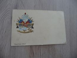 CPA Tirage 1900 Gaufrée Litho République D'Haïti - Haití