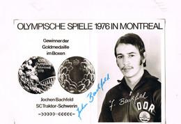 JEUX OLYMPIQUES - AUTOGRAPHE SUR PHOTO - ALLEMAGNE DE L'EST - BACHFIELD - BOXE - - Handtekening