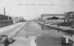 CETTE - SETE - Station Balnéaire - Canal De Cette Au Rhône - Sete (Cette)