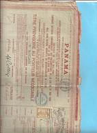 Cie UNIVERSELLE DU CANAL DE PANAMA . PARIS LE 26 JUIN 1888 . RESTE 2 COUPONS - Sonstige