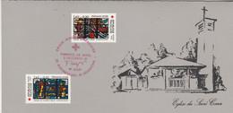 Yvert 2175 Et 2176 Croix Rouge 5/12/1981 Souvenir Philatélique Offert Par Poste Audincourt  Doubs - Postdokumente