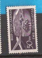 YU 26  1951  651A SLOVENIA BLED   AEREI  FLUGZEUGE  JUGOSLAVIJA JUGOSLAWIEN   MNH - Slovenia