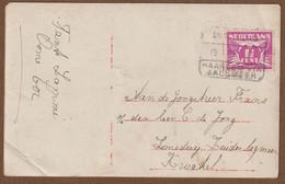 Nederland Kaart Met Treinstempel Van Amsterdam Naar Haarlem Via Aalsmeer   15-1-1929 - Cartas