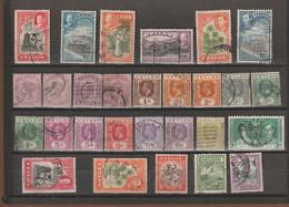Ceylon 28 Old Stamps 1903 - 1951  Used - Sri Lanka (Ceylon) (1948-...)