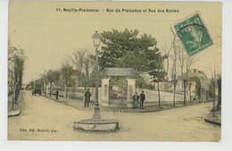 NEUILLY PLAISANCE - Rue De Plaisance Et Rue Des Ecoles (belle Carte Toilée - BRASSERIE DE L'ESPERANCE  ) - Neuilly Plaisance