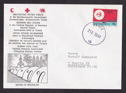Turkey: Cover To Germany, 1970, 1 Stamp, Sent By German Red Cross Earthquake Relief, Gediz (traces Of Use) - Brieven En Documenten
