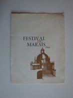 Carton D'invitation,festival Du Marais 1966,André Malraux Ministre D'état,Hubert Devillez - Anuncios