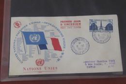 France   FDC  Illustrée Nations Unies   06 11  1951 - 1950-1959