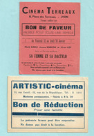 2 Tickets Entré Cinéma - CINEMA TERREAUX - LYON -- ARTISTIC-CINEMA - Tickets - Entradas
