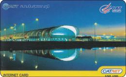 Rare Thailand Phonecard Internet Catnet Suvanabhum Airport - Tailandia