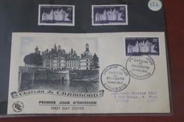 France   FDC  Illustrée Chambord    30 05   1952 - 1950-1959