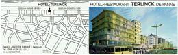 Carte Visite -Tarif. De Panne.  Hôtel-Restaurant TERLINCK. 1979. - Cartes De Visite