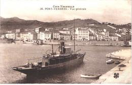 FR66 PORT VENDRES - Mtil 36 - Vue Générale - Bateau Vapeur Remorqueur Belle - Port Vendres