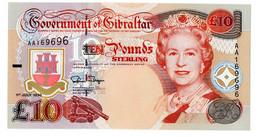 ♛ GIBRALTAR - 10 Pounds 01.07.1995 {Queen Elizabeth II} UNC P.26 - Gibraltar