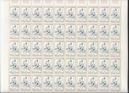 4 Feuilles Complètes De  50 Timbres De La Série 1161/64   Jeux Traditionnels. - Volledige Vellen