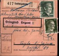 ! 1943 Ludwigsfelde (Abs. Ostmarklager) Nach Seyda, Paketkarte, Deutsches Reich, 3. Reich - Covers & Documents