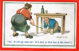 DONALD MCGILL  SMACKJING CANING HUMOUR  BULLYING WIFE I'LL NOT COME OUT 1919  INTER ART - Comicfiguren