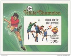 Costa De Marfil Hb Michel 19B Sobrecarga Italia Campeon - 1982 – Espagne