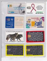 LOT DE 9 CARTES TELEPHONIQUES  : SANTE / PREVENTION / VUE / HUMEX / LABORATOIRES - Telefoonkaarten