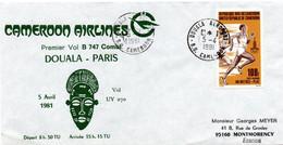 Douala Paris 1981 - Cameroon Airlines - Erstflug 1er Vol Inaugural Flight - Boeing 747 - Cameroun - Kamerun (1960-...)