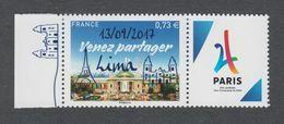 Timbres Neufs ** - N° 5144A - Surchargé Lima 13/09/2017 - JO Paris 2024 -Très Beau -Sans Charnière  Cote Yvert :10 Euros - France