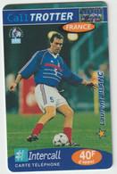 Télécarte :  Carte  Prépayée : Calltrotter  Football :  Blanc - Prepaid-Telefonkarten: Andere