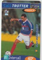 Télécarte :  Carte  Prépayée : Calltrotter  Football :  Djorkaeff - Frankreich