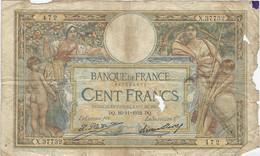 """Lot De 3 Billets - 100 Frs  """" Luc Olivier Merson """"  10 Novembre 1932 - 05 Mai 1938 -10 Février 1938 - 100 F 1908-1939 ''Luc Olivier Merson''"""