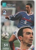 Télécarte :  Carte  Prépayée : InterCall  Football :  Djorkaeff - Frankreich