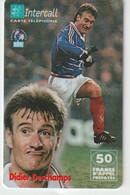 Télécarte :  Carte  Prépayée : InterCall  Football : Deschamps - Prepaid-Telefonkarten: Andere