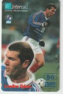 Télécarte :  Carte  Prépayée : InterCall  Football : Zidane - Prepaid-Telefonkarten: Andere