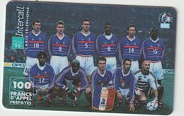 Télécarte :  Carte  Prépayée : InterCall  Football :  équipe D E  France - Frankreich
