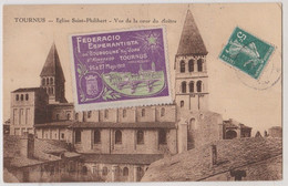 CPA  Vignette Esperanto Congrès Tournus De 1912 (71) Sur CP Tournus Saint Philibert - Other Municipalities