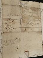 Lettre De 1814 De Barcelone Cachet Arm. D' Espagne Et Frankryk Over Dinant à Destination De Philippeville Algérie LIL7 - 1792-1815: Veroverde Departementen