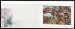 2002 Ukraine WWF Leopard Snake Booklet (** / MNH / UMM) - Neufs
