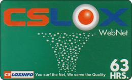 Thailand Phonecard Internet Loxinfo WebNet Diff. Back - Tailandia
